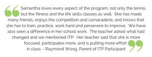 Intensive Training Program parent testimonial